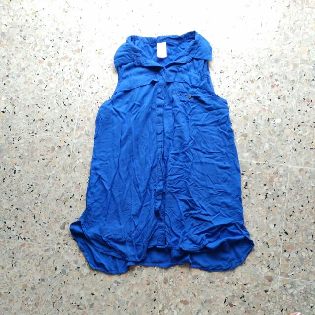 BUY 2 GET 1 FREE Blue Light Button Up Top