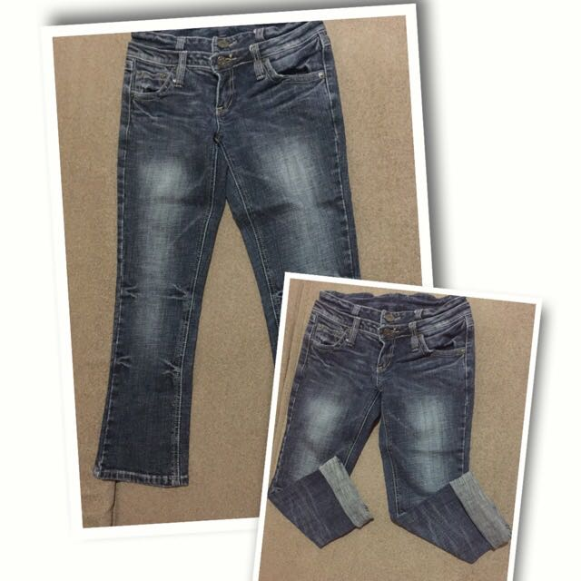 Celana Jeans Washed 7/8