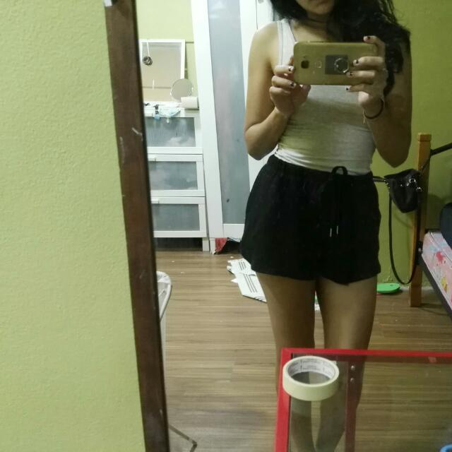 Cotton On Black High Waisted Shorts (INCLUSIVE POS LAJU)