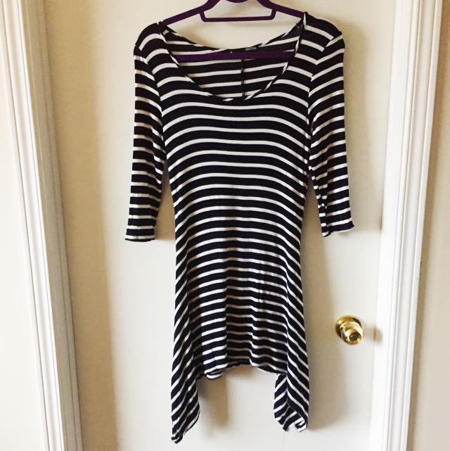 Cute Striped Long Top/Dress
