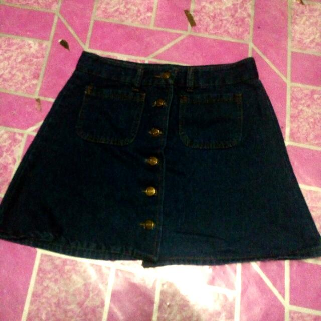 (REPRICE) Denim Skirt