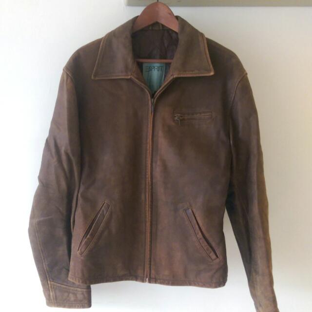 ESPRIT 真皮外套 夾克