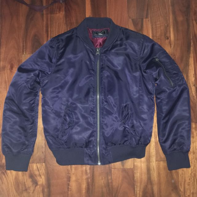 F21 Navy Blue Bomber