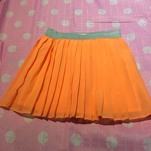 Gingersnap Orange Skirt