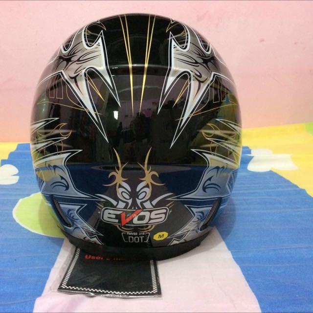 Gloss Black With Design Evos Full Face Helmet