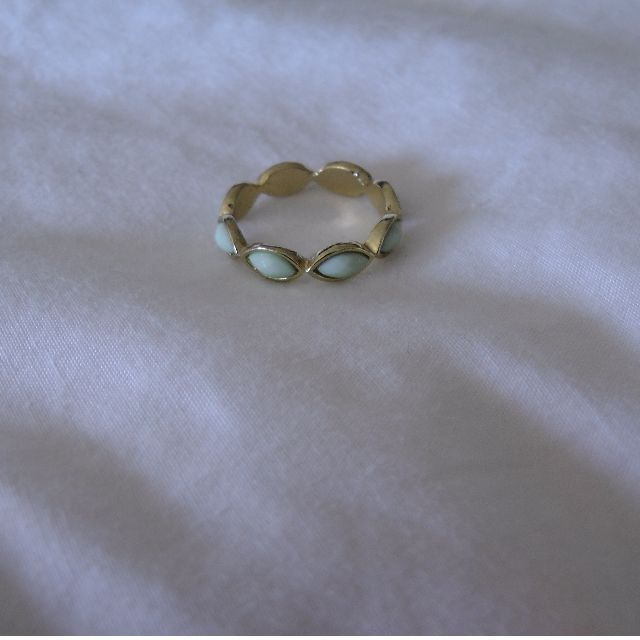 Gold and Mint Ring