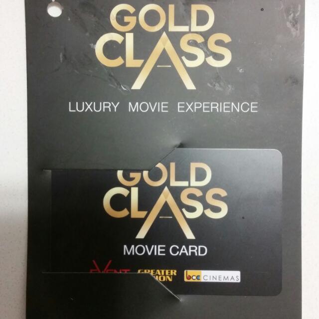 Gold Class $80 Gift Card