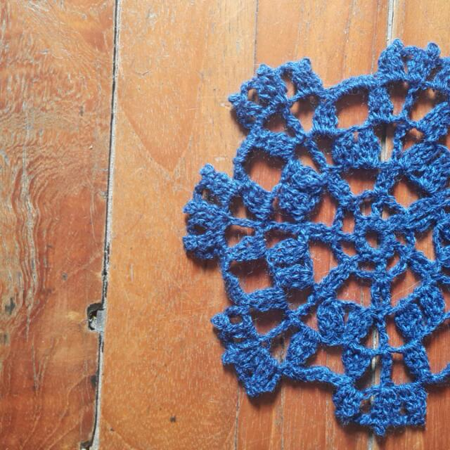 Hand-crocheted Cluster Doily