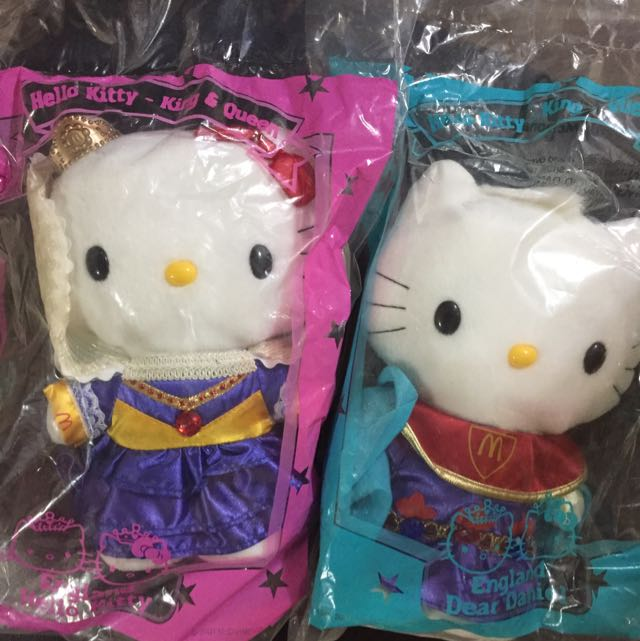 Hello Kitty Sanrio Plush Doll England King And Queen Wedding Mcdonald
