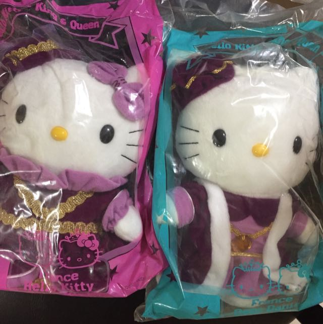 Hello Kitty Sanrio Plush Doll France King And Queen Wedding Mcdonald
