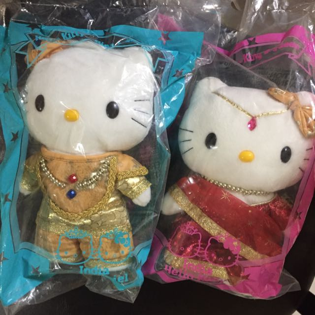 Hello Kitty Sanrio Plush Doll India King And Queen Wedding Mcdonald
