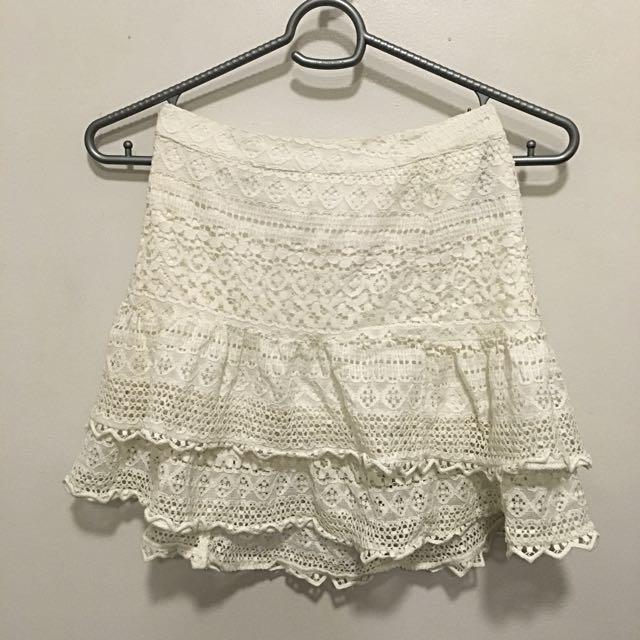 H&M White Lace Palda