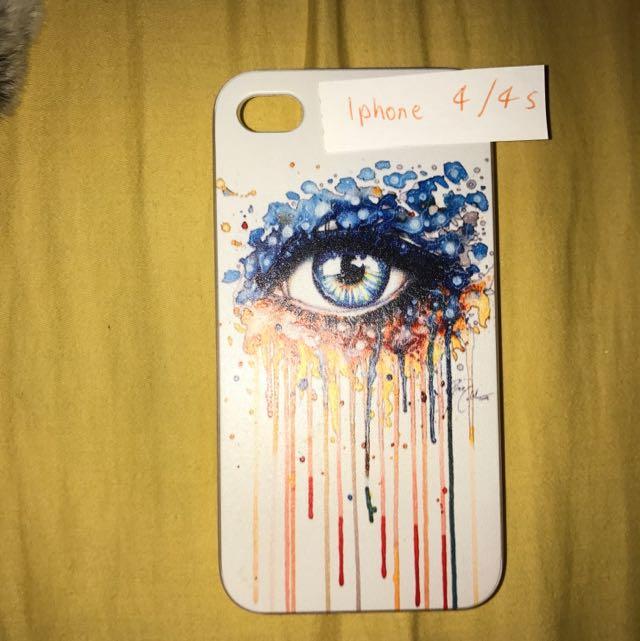 iPhone 4/4s Eye Painting Hard Case