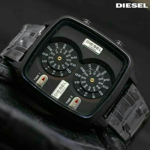JAM TANGAN DIESEL RANTAI DOUBLE TIME BLACK ae76627941