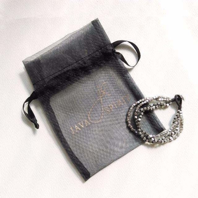 Java Spirit 個性 霧銀色方形角珠 中性手環
