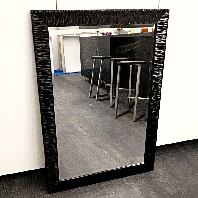 Large Black Frame Mirror
