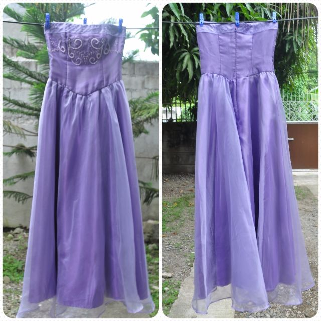 Lavender floor length gown