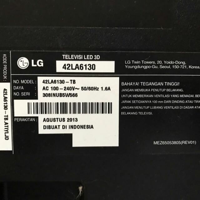 LED 3D TV LG 42 INCH MULUSS JUAL RUGI