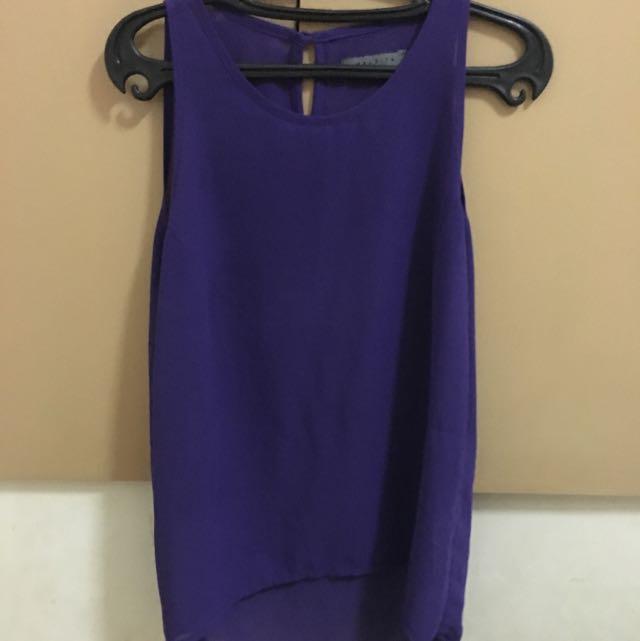 Maldita Purple See Thru Sleeveless
