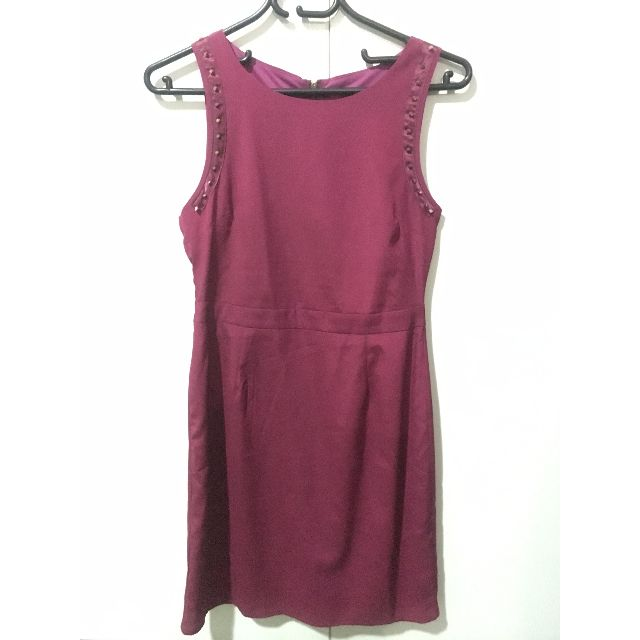 Maroon velvet bodycon dress