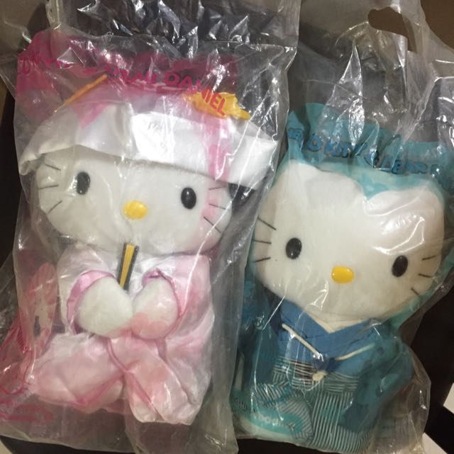 McDonald Hello Kitty Sanrio Plush Doll Japanese Traditional Kimono Wedding Couple