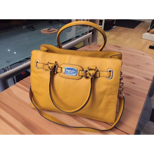 Michael Kors - Hamilton Marigold Yellow Leather Purse