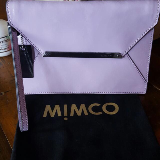 Mimco Amethyst origami clutch