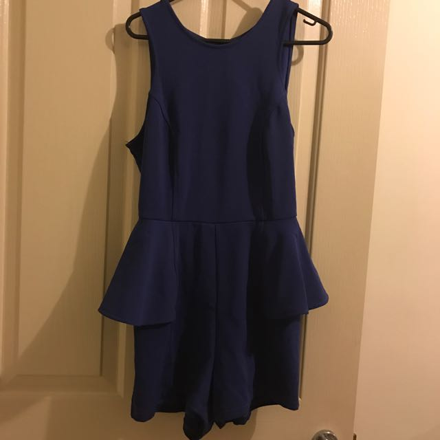 Navy Play suit Size S