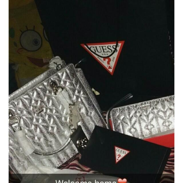 New. Guess Bag Silver Elegant (bag Only)