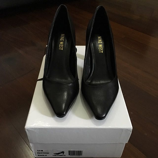 Nine West Black Leather Shoes