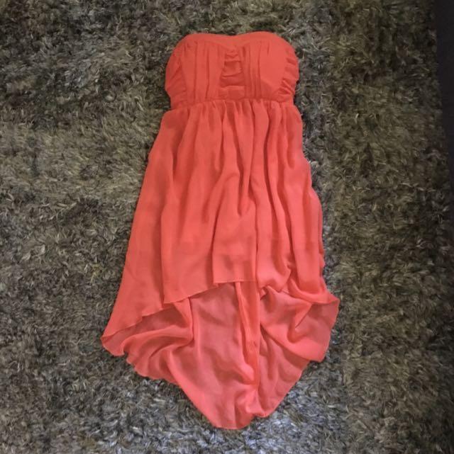 Orange Boobtube Dress