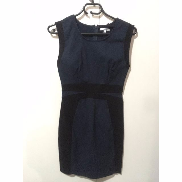 Paper Scissors black-navy bodycon dress