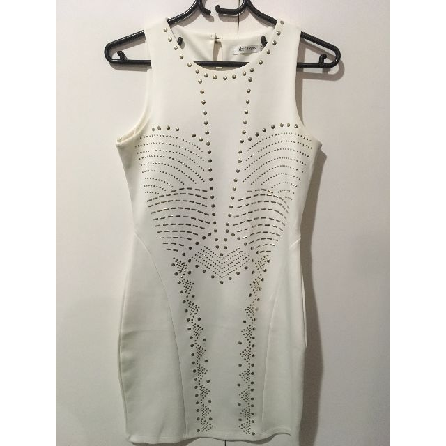 Paper Scissors white bodycon dress