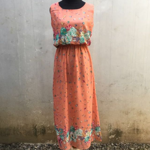 Peachy Long Dress