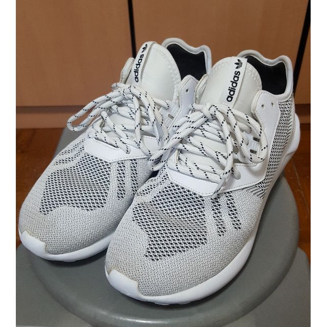info for 56a6e 28f1b Pre-loved US 10 Adidas Tubular Runner Weave White, Men's ...