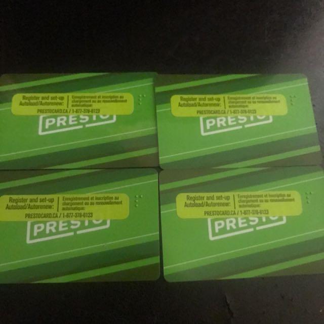 Presto Card 510$ Value