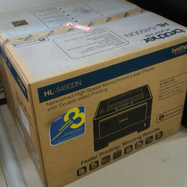 Printer Brother HL 5450 DN high speed monochrome laser
