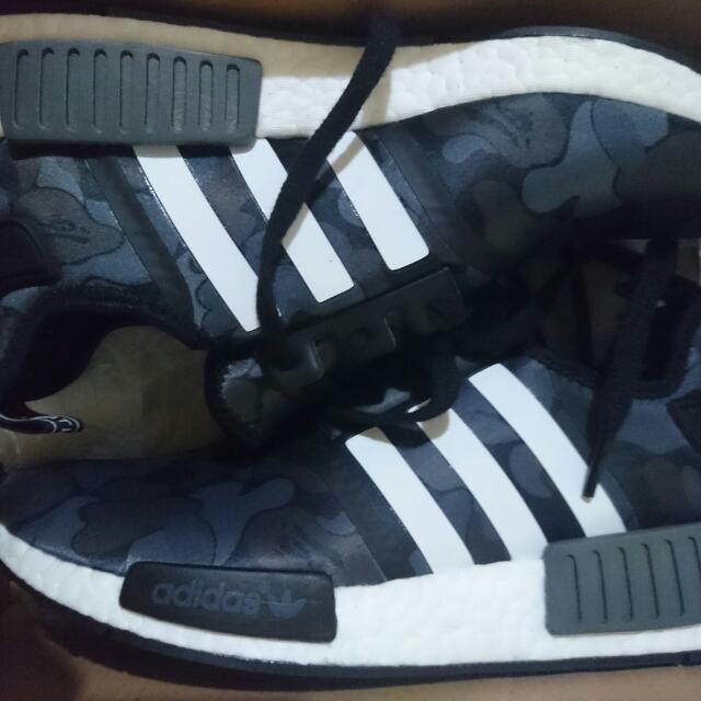 (REDUCED) US 8 Mens Bape X Adidas NMD 'Black Camo'