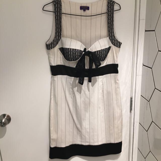 Rosemin Dress Black & White