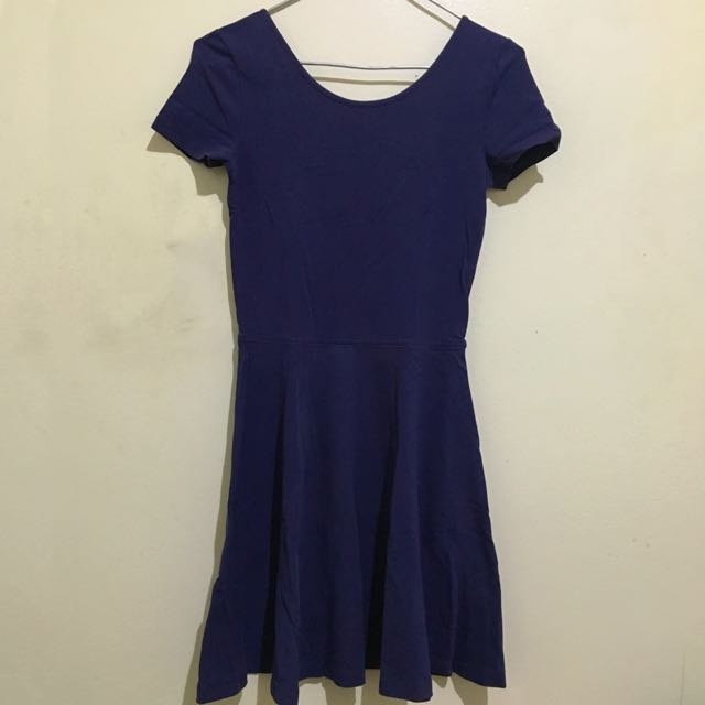 Skater Dress In Navy Blue & Army Green