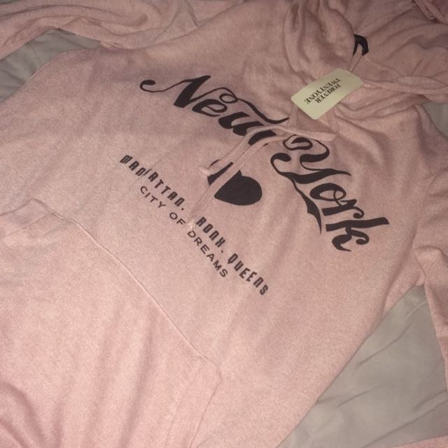 Soft Pink Hooded Long Sleeve