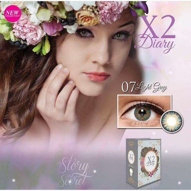 Softlens X2 DIARY light Grey