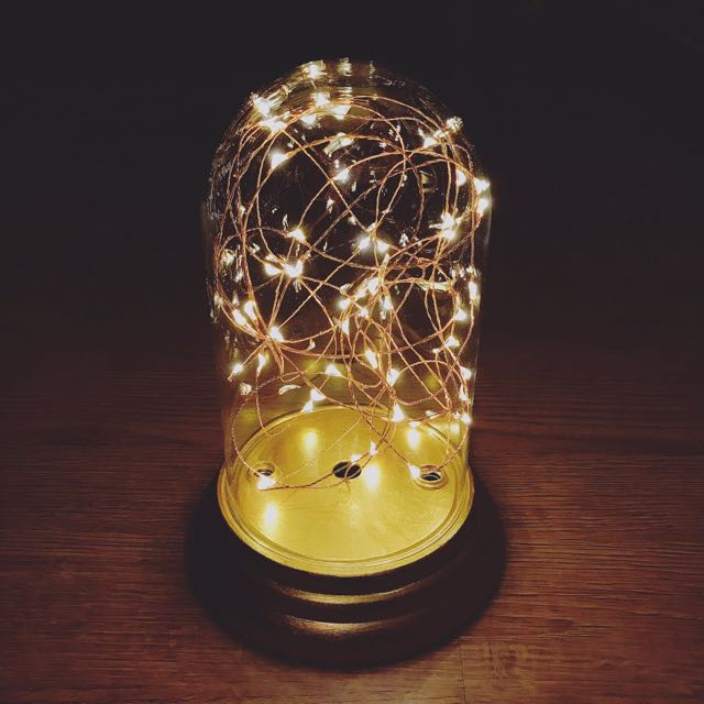 Terrarium With Fairy Lights Furniture Home Decor On Carousell