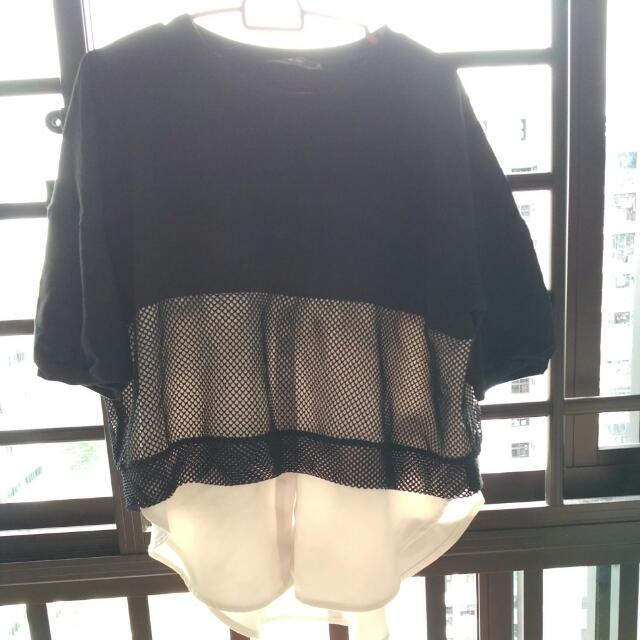 BUY 2 GET 1 FREE Textured Layered Monochrome Top