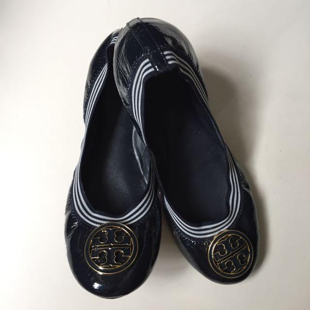 8665737944ef Authentic Tory Burch  Caroline  - Patent Ballerina Flats