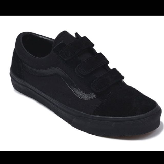 vans velcro black