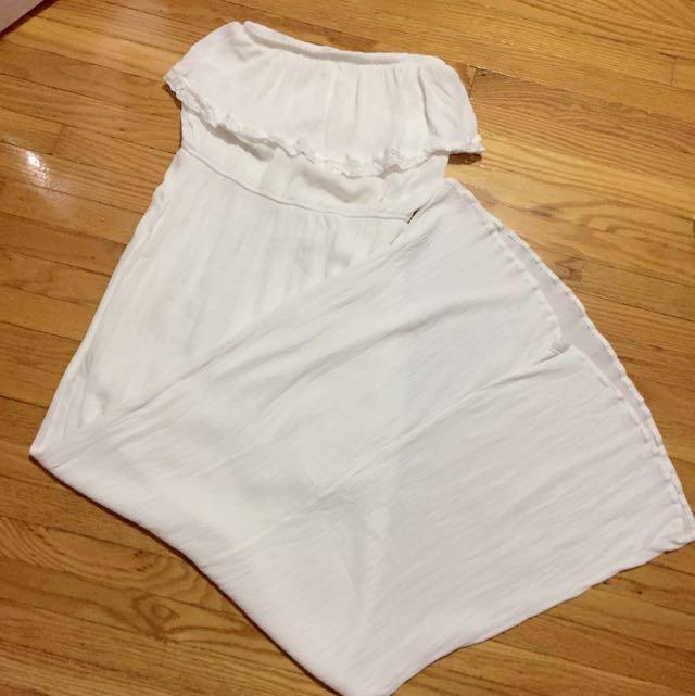 White Column Maxi Dress