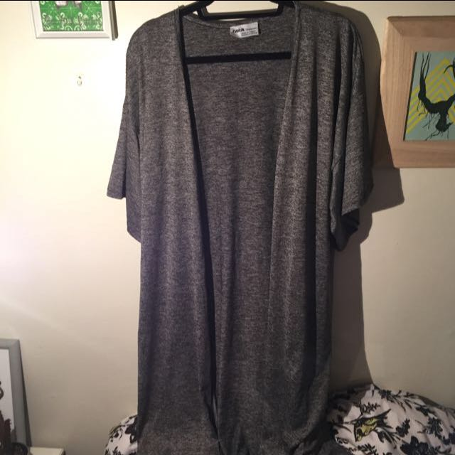 Zara Grey Kimono - Size Medium