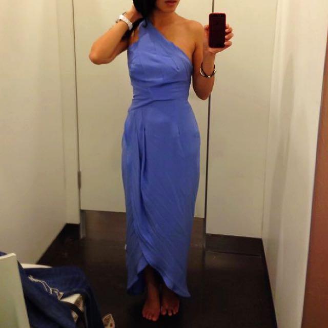 Price Drop: Zimmerman One Shoulder Silk Dress (Sz 0)