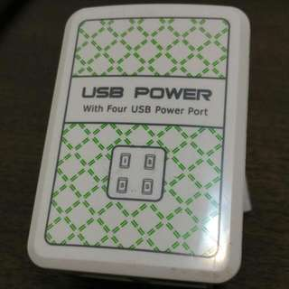 4 USB Power Adapter With 4 Ports